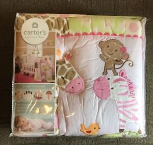 Carters Animals Collection Crib Bumper