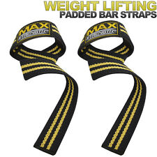 Padded weight Lifting Bar Straps Hand Wrist Gym Wraps Deadlift Training Support