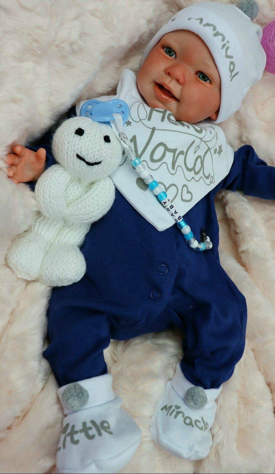 NEW REBORN BLUE EYED BABY BOY DOLL HEAVY CHILD SAFE FULL LIMBS SUNBEAMBABIES DAN