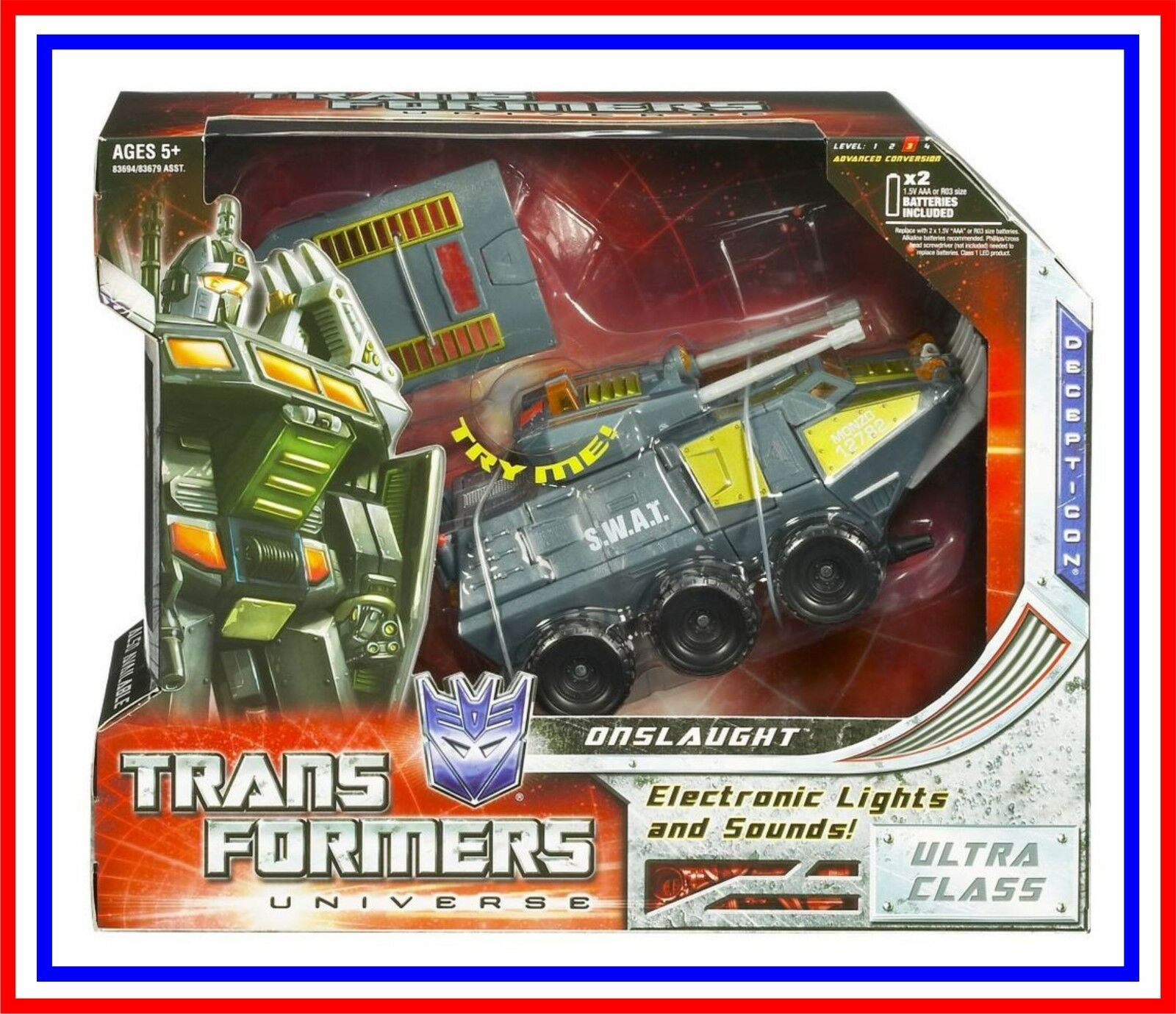 2010 Transformers Universe 2.0 _ Voyager   Classic Series _  Onslaught _ (MIB)