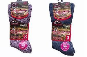 6, Pairs Men's Ladies Gentle Grip Non Elastic Chunky Wool Diabetic Boot Socks VerrüCkter Preis