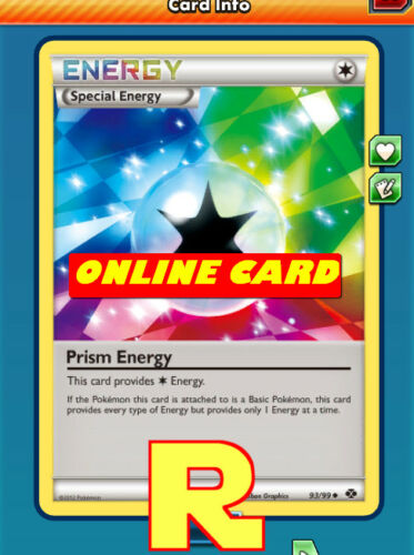 Prism Energy DIGITAL ptcgo in Game Card for Pokemon TCG Online