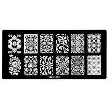 Manicure Konad Nail Art Image Stamp Stamping Plates Classic Race Pattern BCN03