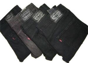 Levi-039-s-Hombre-510-Negro-Ajustado-Pantalon-Vaquero-Ajustado-W31-W32-W34-W36