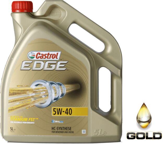 5W-40 Castrol Edge Titanium FST  / 1 x 5 L. Motoröl / VW, Mercedes, Ford, GM
