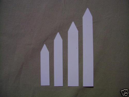 500x weiße Pflanzenetiketten Stecketiketten 1,3cm x 8cm
