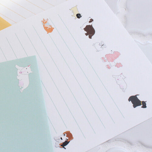 4sh Writing Stationery Paper 2sh Envelope 1x My Friend Animals Letter Set