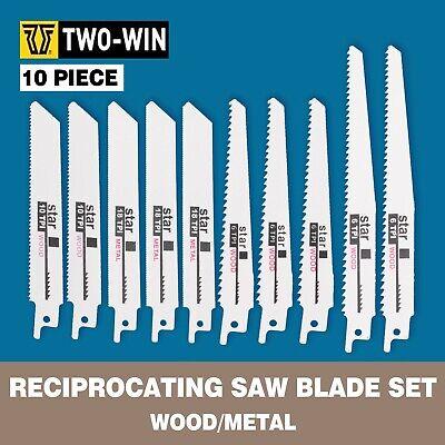 "10 pcs6/"" 6T 10T 8/"" Reciprocating Saw Blades Set  for DeWalt /& Makita Cut Wood"