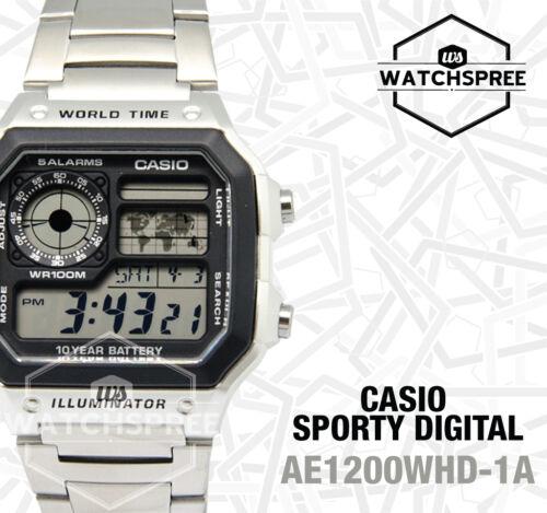 1 of 1 - Casio Standard Digital Watch AE1200WHD-1A FREE AU EXPRESS