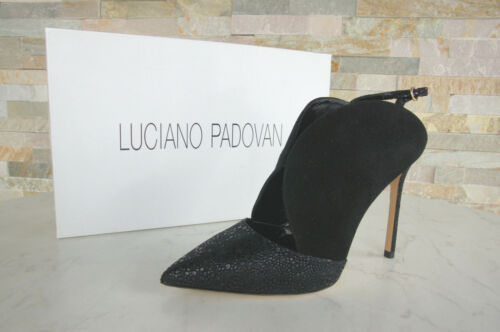 Luciano Padovan Size 37,5 Court Shoes Slingbacks Heels Black New Previously