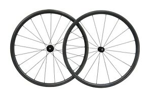 30mm Black Matt Carbon Clincher Tubeless Wheelset Bend J  700C Road Bike
