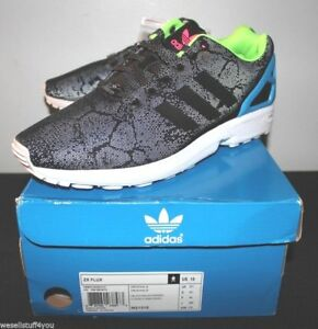 new product da137 d7d4e Details about Adidas ZX Flux 3M Reflective Snake Black Torsion ED Sneakers  Men's Size 10 New