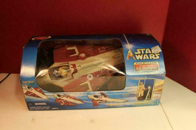 Star Wars Obi-Wan/'s Jedi Starfighter Attack of the Clones Hasbro 2002 Spaceship