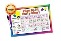 Potty Training Chart - Potty Chart - Bathroom Chart - I Can Do ... Free Shipping