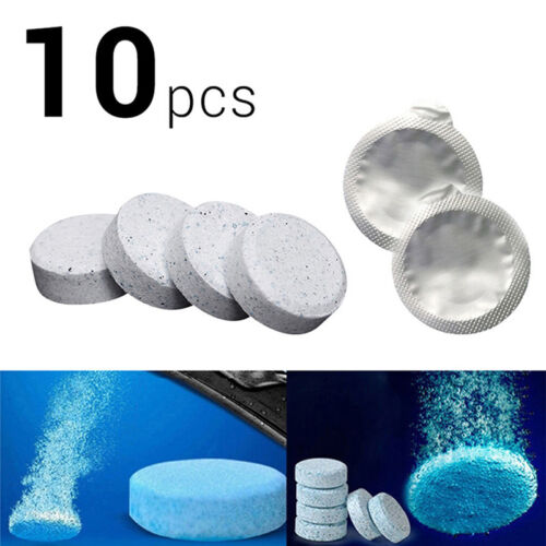 10xCar Windscreen Window Cleaner Wash Tab Glass Effervescent Tablets Auto Care**