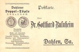 Werbepostkarte-Dahlen-Dahlener-Doppel-Toepfe-Fa-Dr-Gotthard-Bulnheim-1906