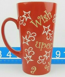 Mulberry-Home-Collection-Wish-Upon-A-Star-Red-Coffee-Mug-Cup-16oz-Free-Shipping