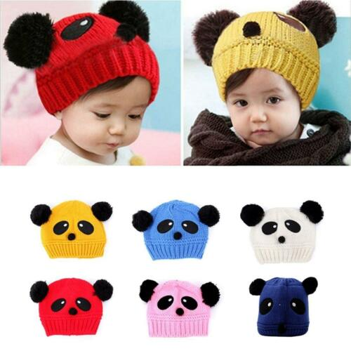 Kid Panda Soft Knit Crochet New Cute Baby Boys Girls Hat Winter Warm Beanie N7