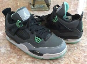 8df489df5a0fcd Nike Air Jordan 4 Retro Kid s Gray Turquoise Athletic Shoes Size 6.5 ...
