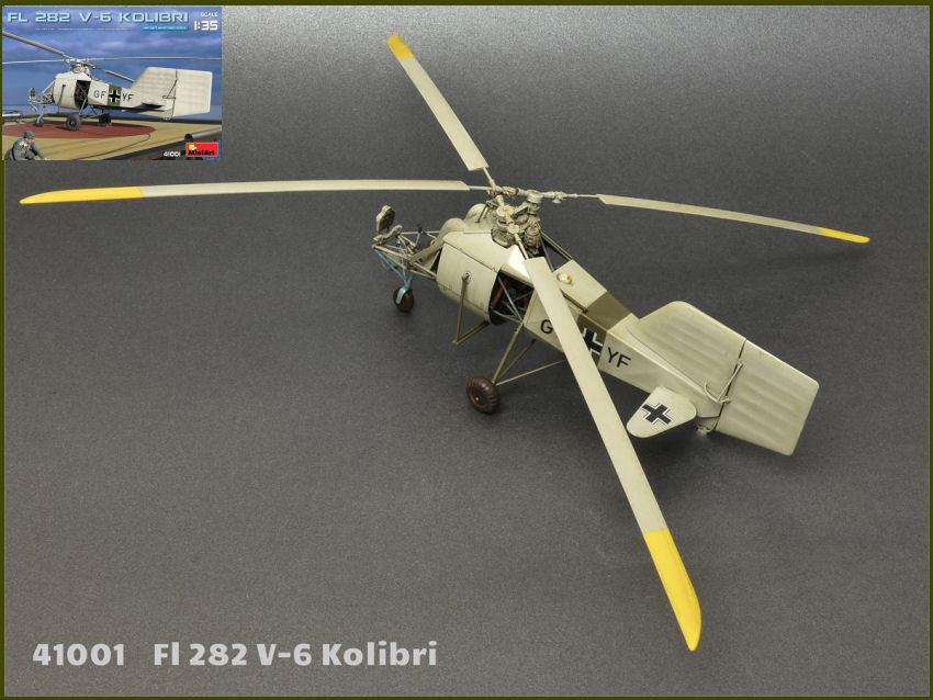 FL 282 V-6 Kolibri Plastic Kit 1 35 Model MINIART