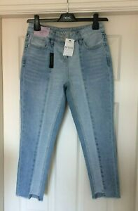 Blue Mid Rise NEXT Jeans Cropped Ankle Wide Leg BNWT Size 12R /& 14R