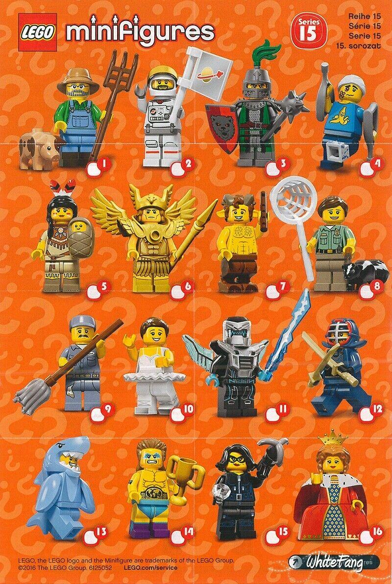 Lego Minifigure Series 15 71010 COMPLETE SET of 16 Shark Knight Queen