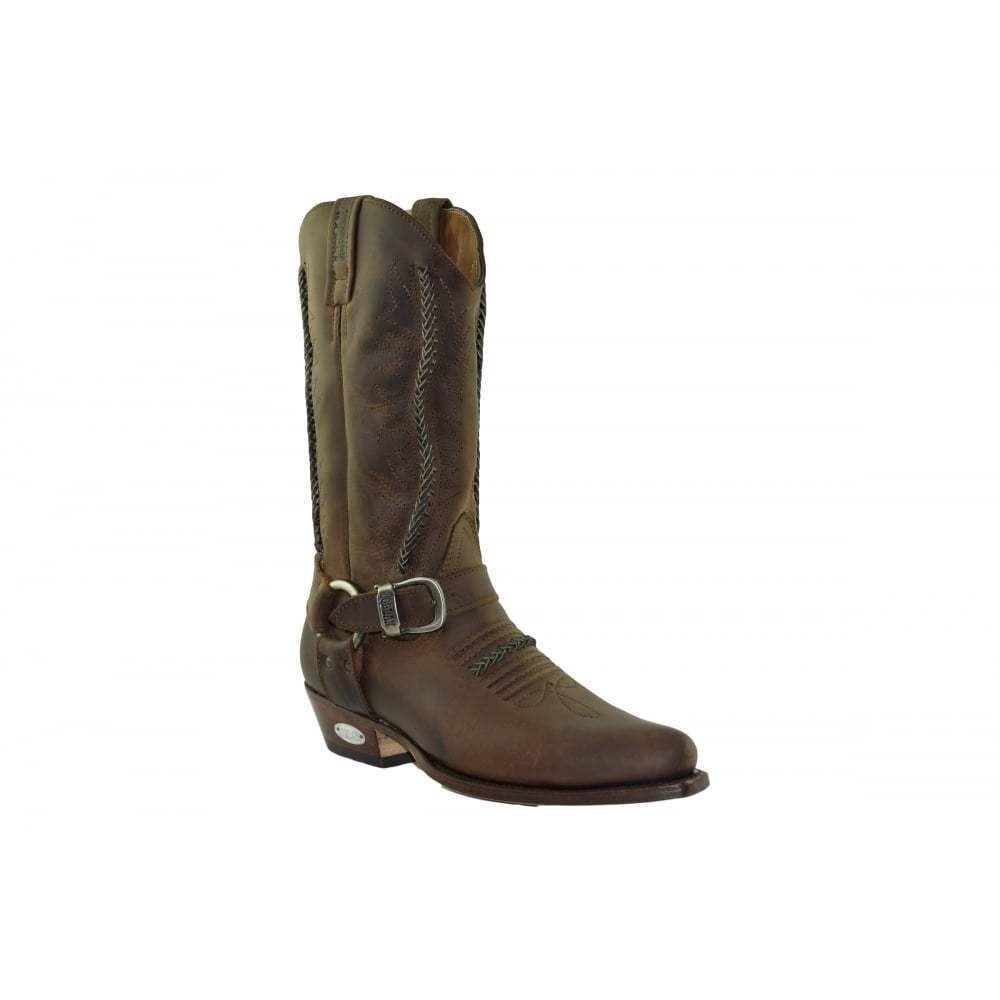 Loblan 2476 Marrón Waxy Leather Unisex Cowboy botas Handmade Classic Unisex Leather Western e1c0cf