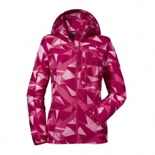 Schöffel Windbreaker Jacket AOP L jazzy Damen Jacke Windschutzjacke Pink