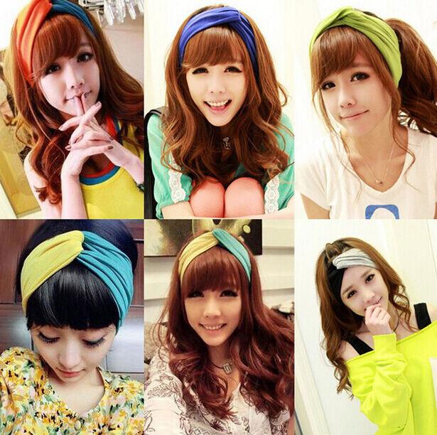 Mixed Colors Fashion Women Turban Twisted Knot Hairband Twist Head Wrap Headband