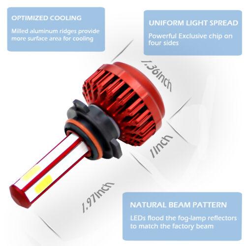 2018 4-Side 9006 LED Headlight KIT Bulbs For VW Jetta 2005-2017 Passat 1998-2017