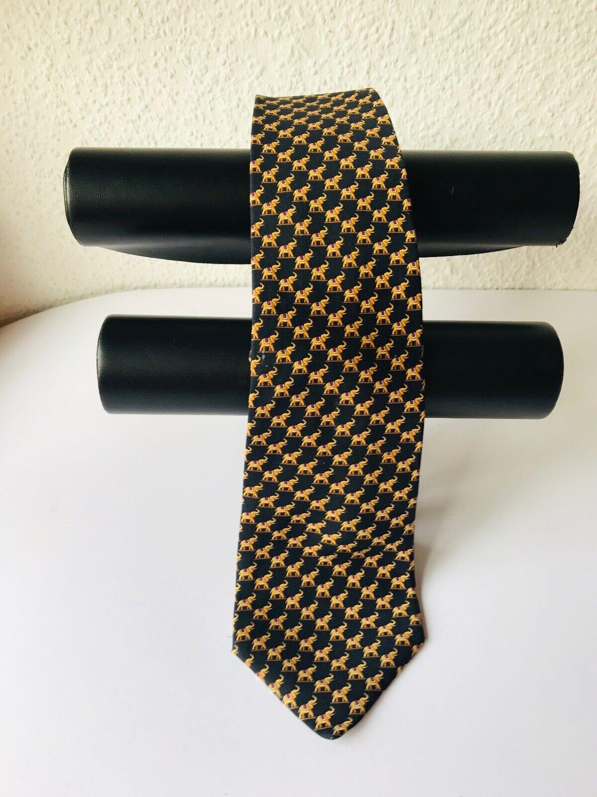 Edle Krawatte Hersteller der Firma Breuer mit Elefantenmotiven