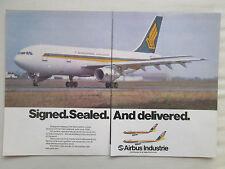 1/1981 PUB AIRBUS A300 AIRLINER SINGAPORE AIRLINES SINGAPOUR ORIGINAL AD