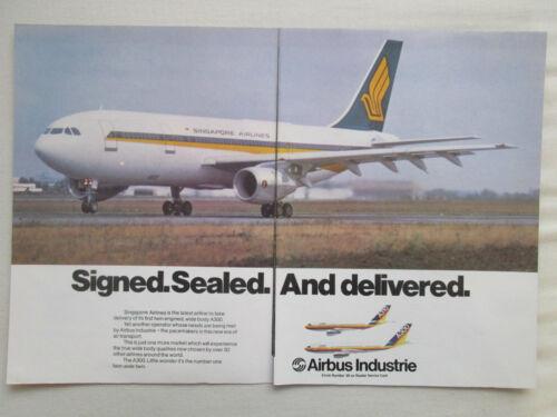 1//1981 PUB AIRBUS A300 AIRLINER SINGAPORE AIRLINES SINGAPOUR ORIGINAL AD