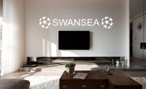Car Vinyl SWANSEA Football FC Bedroom Poster Wall Art Sticker Decal Glass