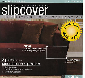 Brilliant Details About Maytex Carter Stretch 2Pc Slipcovers Sofa Loveseat Chair In Burgundy Clearance Alphanode Cool Chair Designs And Ideas Alphanodeonline
