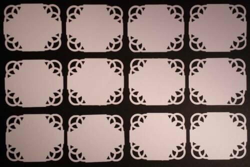 Joblot of Plaques Pack of 12 Ideal for cardmaking, Topper and Scrapbooks