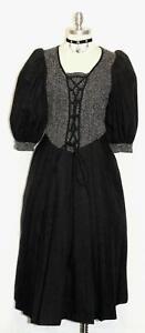 BLACK-WOOL-Women-GERMAN-Long-WINTER-Church-Career-WARM-Dress-10-M