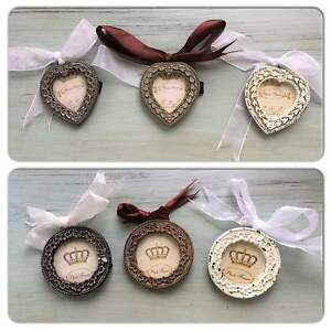 Shabby-Chic-Set-of-3-Petite-Hanging-Rounds-or-Hearts
