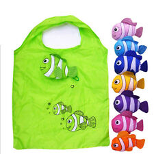 Cute Clown Fish Reusable Folding Shopping Bag Travel Grocery Tote Handbags BH