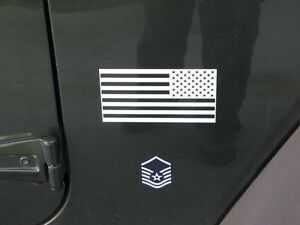 RENEGADE Rubicon sport Mirror imaged American flag DECALS fits jeep WRANGLER