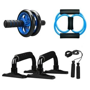 5-en1-Muscle-Trainer-AB-Roller-Wheel-Kit-Push-UP-Bar-Jump-Rope-Ejercicio-Fitness