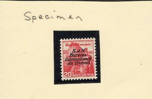 Small-Swiss-Specialized-stamp-collection-high-CV-Essay-039-s-Specimens-ect