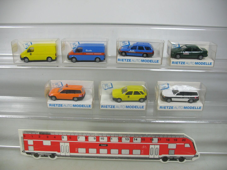 AP373-0,5  7x Rietze H0 Modelle  Opel DEAFord Quelle Fahrschule Post etc, NEUW  | Verwendet in der Haltbarkeit