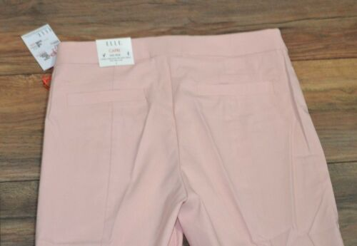 Elle Pull on Capris Rose Pink Color Hits Mid Calf Fitted Through Hip /& Thigh