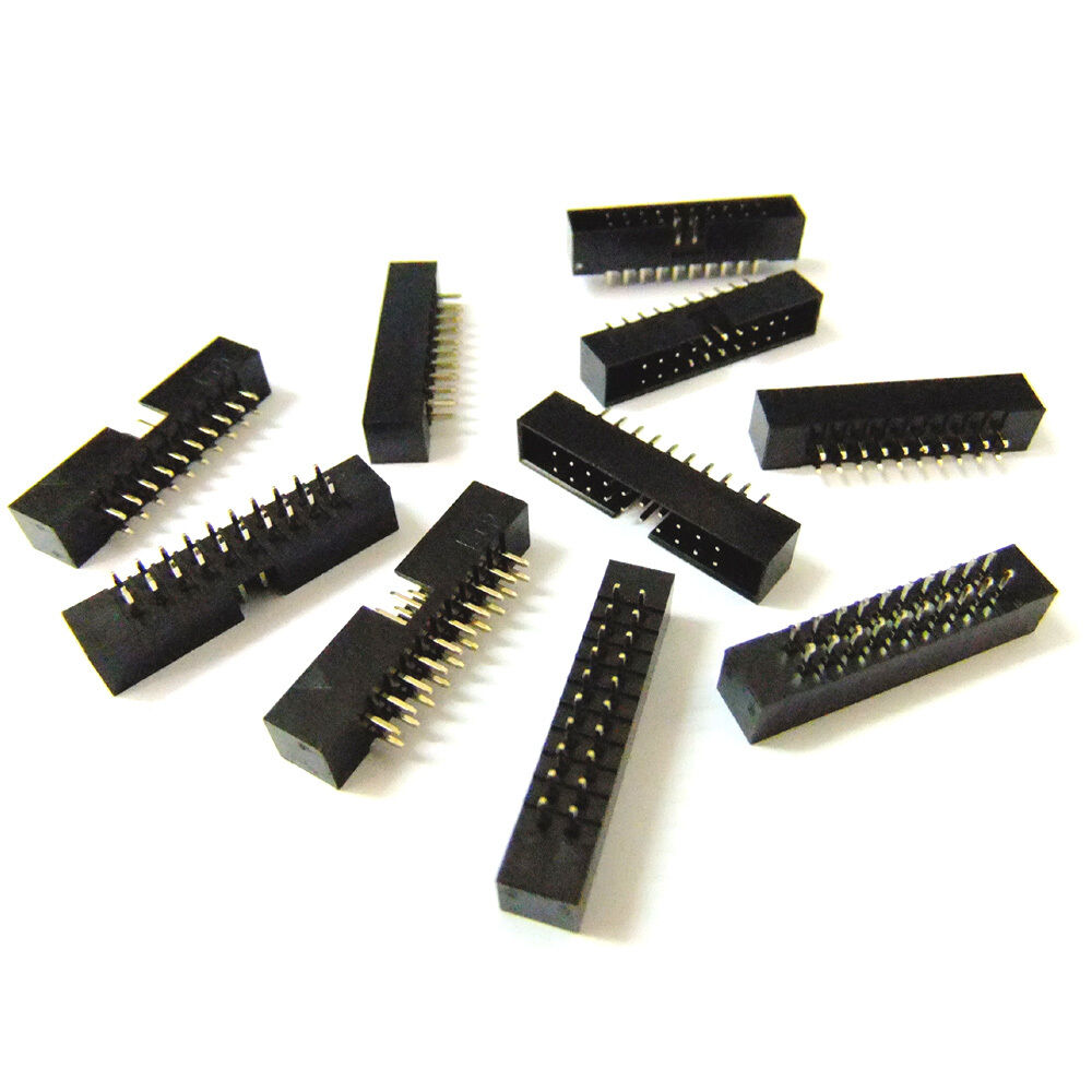 DZ236 10pcs DC3-20P 2.54mm Pitch Dual Row 10 x 2 ISP Download JTAG I//O Sockets \