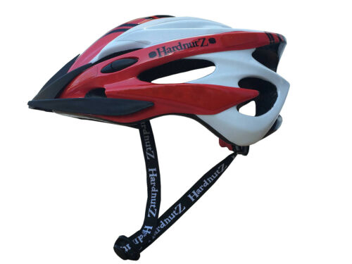 HardnutZ Bike Helmet Road Mountain Bicycle Cycling Hi Vis MTB Red White Black