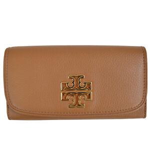 f7fc917bbb61 Tory Burch BRITTEN Duo Envelope Continental Wallet Bark 190041692255 ...