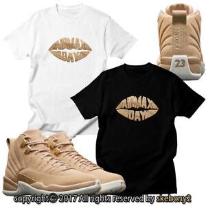 b5b17333cf00dd NEW Nike Air Jordan XII Retro 12 Vachetta Tan CUSTOM T SHIRT JD 12-3 ...