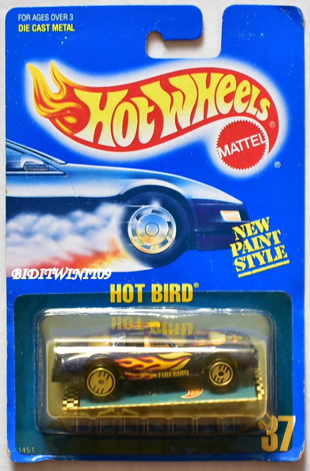 Hot Wheels 1989 blue Karte Hot Vogel Broschüre Uh Chrom 05 W+