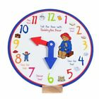 Paddington Learn to Tell The Time Wooden Clock by Rainbow Designs 5014475112521